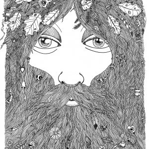 Beardy Man Ink 210x297mm 2018