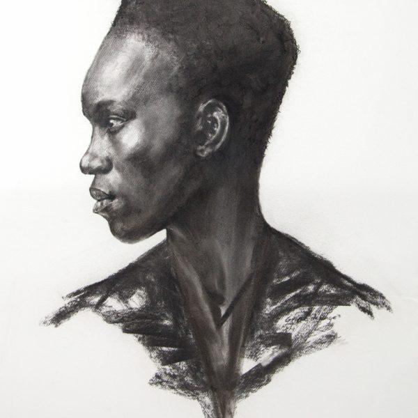 G de Lange Afro Supreme Charcoal 745x1050mm