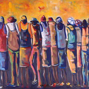 Oliver Mtukudzi Acrylic on canvas 800x1000 2019