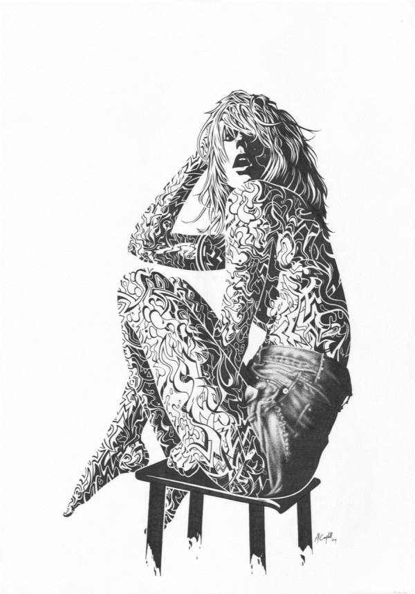 CAMPBELL Beauty of the Flesh Ink on paper 594x841mm