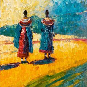 VIGLIETTI Maasai Sunset Oils on canvas 900x600mm 2019 R35000