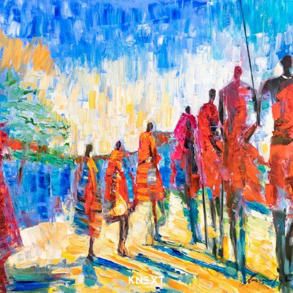 VIGLIETTI Rain Dance Oil on Canvas 1000x1250mm 2020 R85000