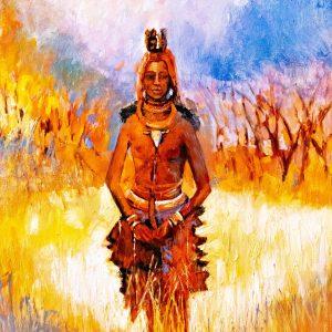 VIGLIETTI She Walks in the Light Oils on canvas 1020x760mm 2019 R70000