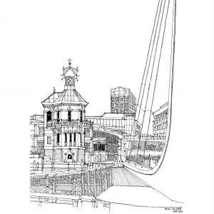 Waterfront clocktower 2 April 2020