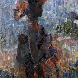 Motherhood Oil on Canvas 595x840mm