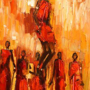 VIGLIETTI High Jump Oil on canvas 510x1020mm 2019 BEFORE REWORK
