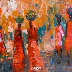 VIGLIETTI Maasai Market Oil on canvas 1020x510mm 2019 R40000