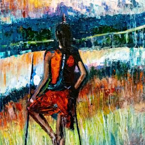 VIGLIETTI Maasai Warrior Oils on canvas 1000x1200mm 2019