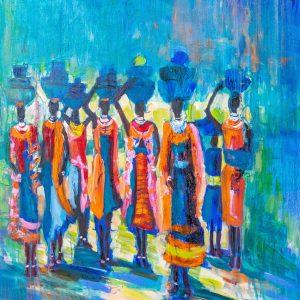 VIGLIETTI The Light Bearers Oils on canvas 1250x1000mm 2019