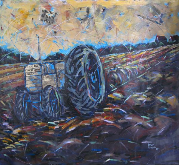 Artwell Musingate Tractor Acrylic on canvas
