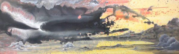 Storm Brewing acrylic on canvas 160cm x 50cm